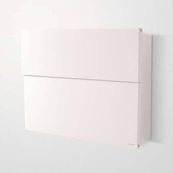 Radius Design Letterman XXL 2 Briefkasten weiß (RAL 9003) ohne Klingel mit Pfosten in Briefkastenfarbe 568 e