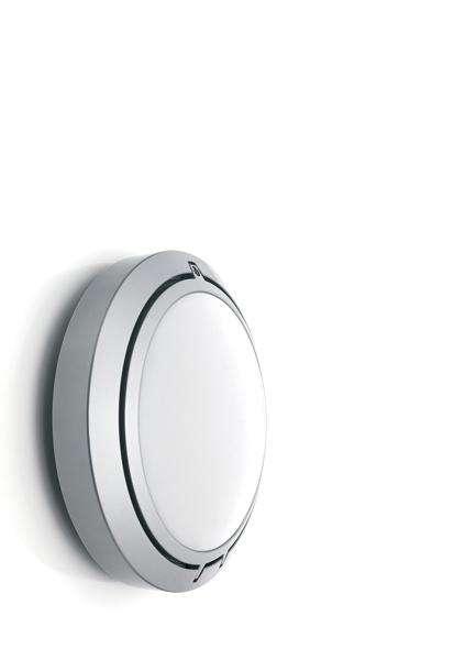 Luceplan Metropoli Wandleuchte / Deckenleuchte mit Prismenglas Ø 17cm Prismenglas-Diffusor Ø 17cm aluminium lackiert Standard-Fassung 1D2017V00020+1D2017010000