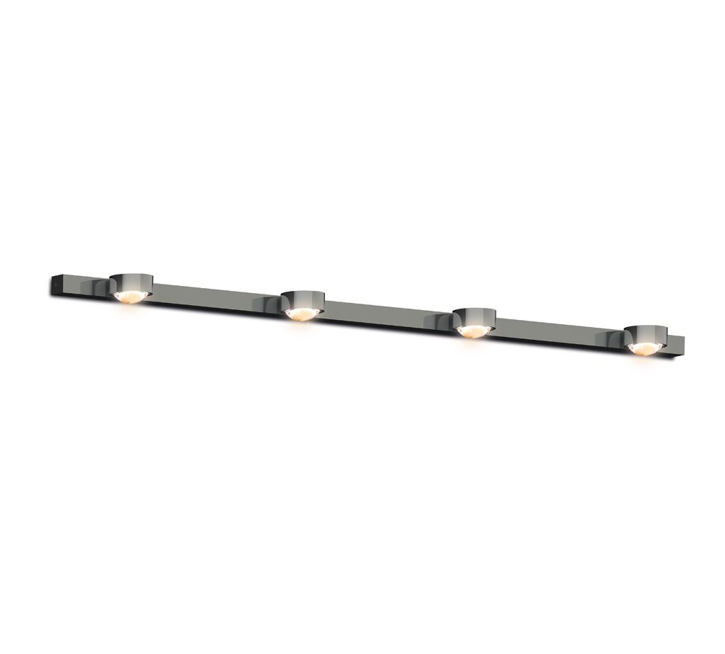 Top Light Puk Mini Choice Mirror / Wall Wandleuchte 4 Köpfe chrom 100cm LED 8-6010042