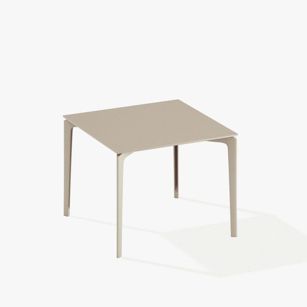 Fast AllSize Tisch 90 x 90cm cremeweiß 57Q09A-17