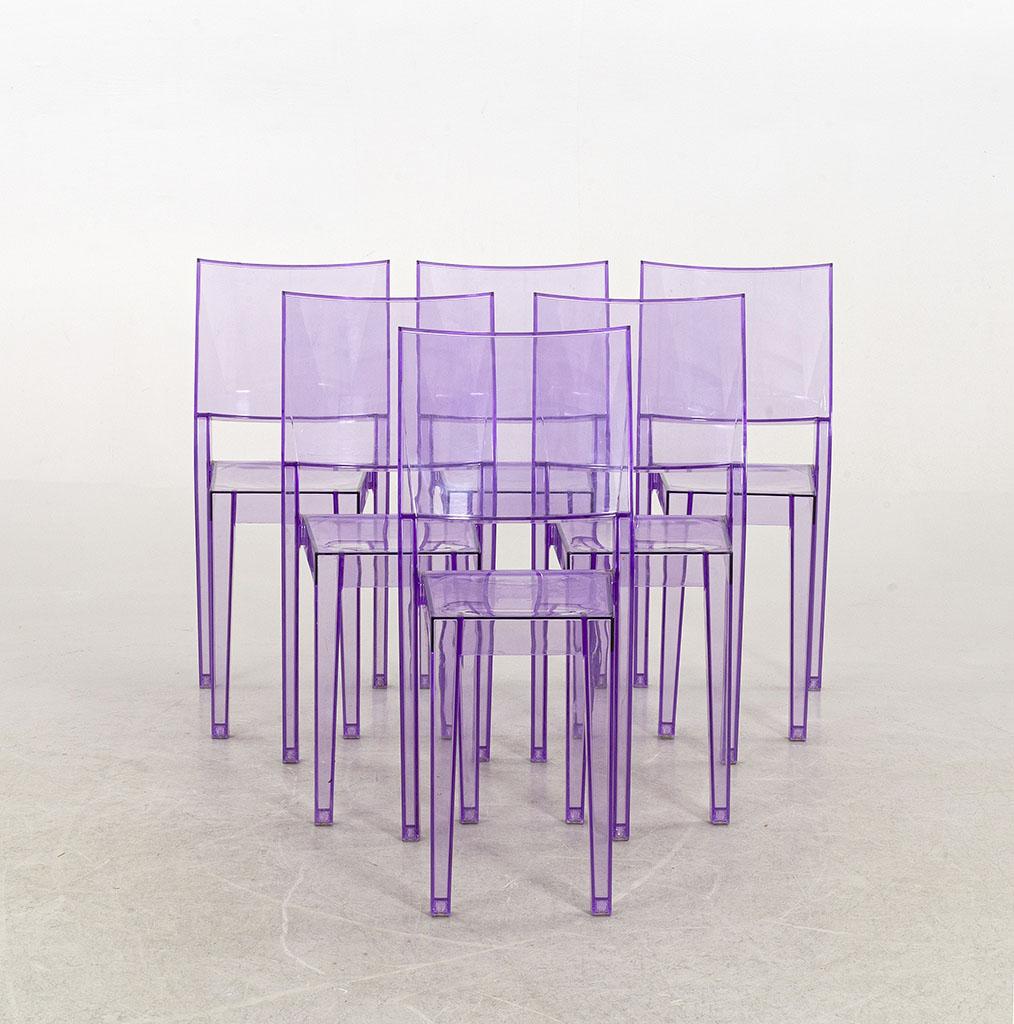 Kartell La Marie Stuhl - violett transparent - Austtellungsstück