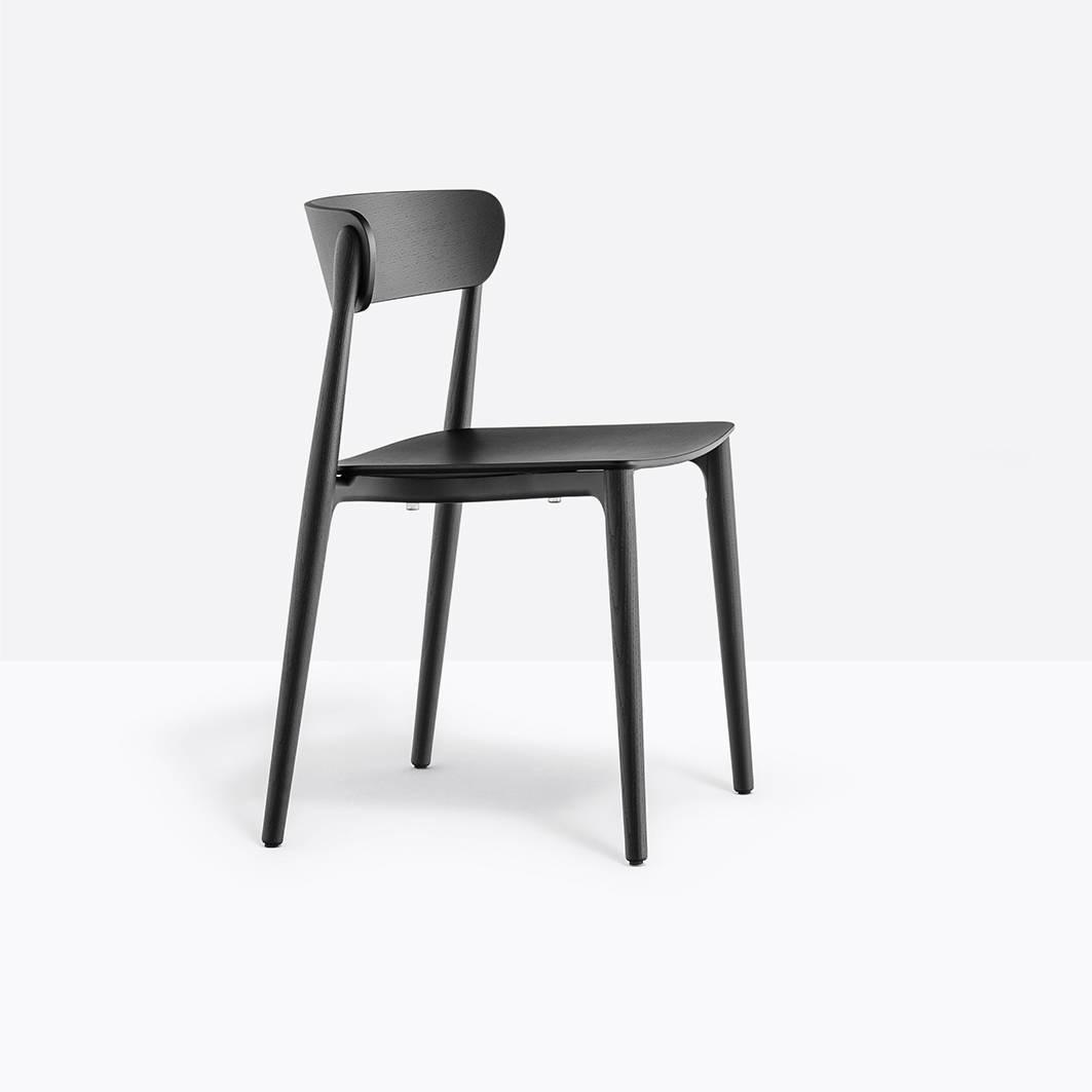 Pedrali Nemea 2820 Stuhl Esche schwarz gebeizt Nemea 2820+AN
