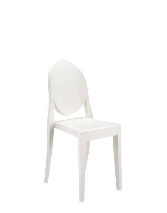 Kartell Victoria Ghost Stuhl 4er Set weiß glänzend 4x4857/E5