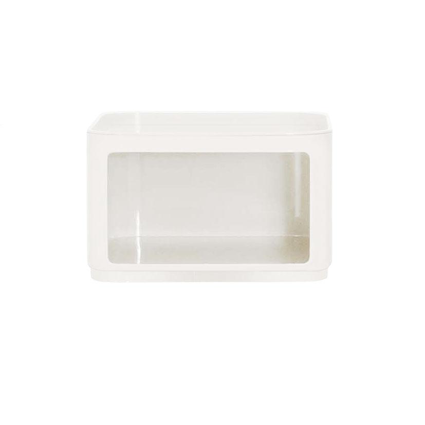 Kartell Componibili Container Baukastensystem H 61,5cm rund mit Tür weiß 4931/03