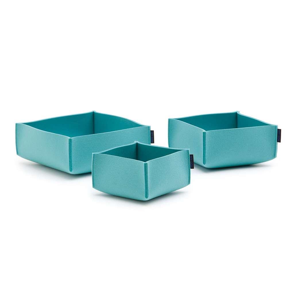 Hey-Sign Box Set 3 Aufbewahrungsboxen (3er Set) 50 aqua 314130050