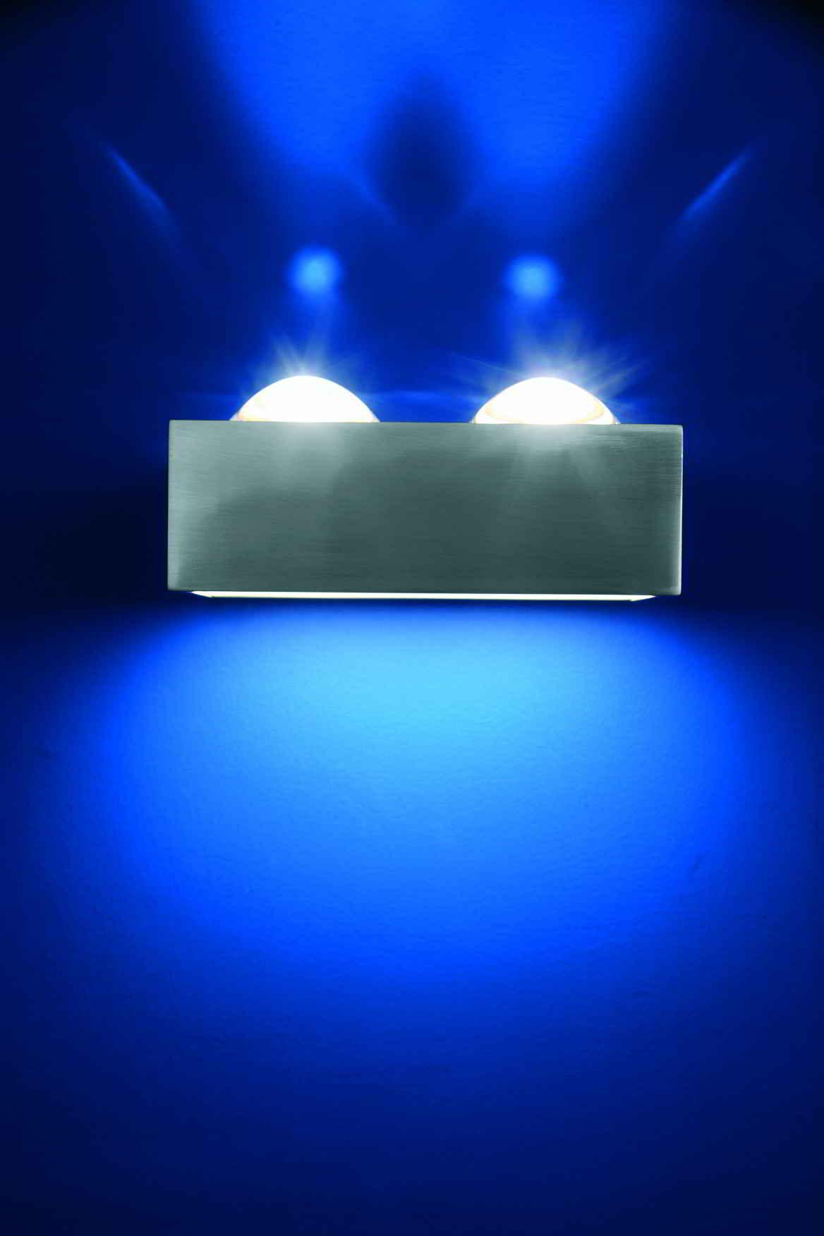 Top Light Focus 150 Hochvolt Halogen Wandleuchte-Focus 2x Linse/Glas nickelma... TO-1035-FO-2liglnilagerabverkauf