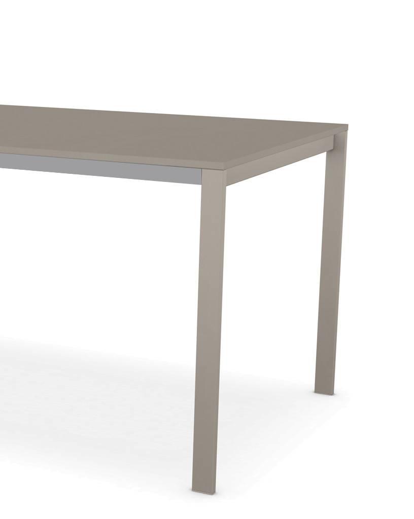 Kristalia be-Easy Fenix-NTM® Tisch 99 x 200cm Tischplatte Biberbraun Ottawa 0717, Beine Biberbraun Ottawa 0717 lackierter Stahl 01BEA04F