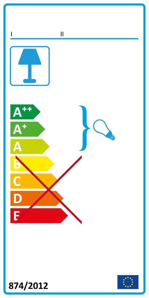 A++ bis A (Diese Leuchte enthält eingebaute LED-Lampen der Energieeffizienzklassen A++bis A.)