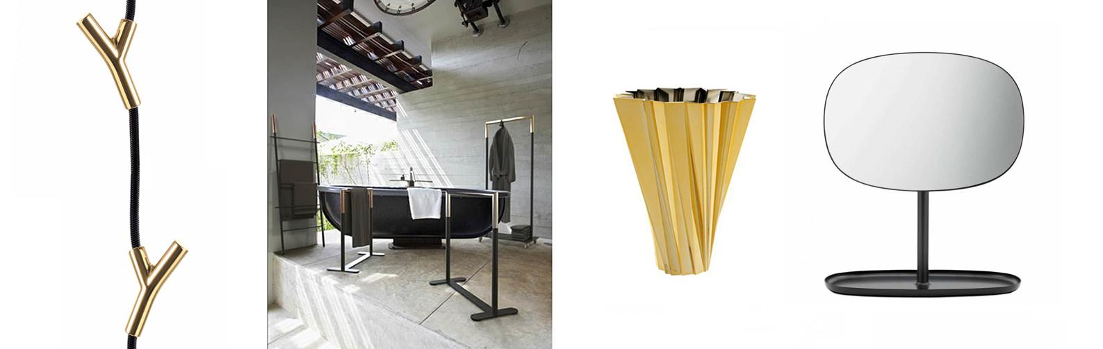 Frost Bukto Leiter, Authentics Wardrope Garderobe, Kartell Shanghai Vase und Normann Copenhagen Flip Spiegel