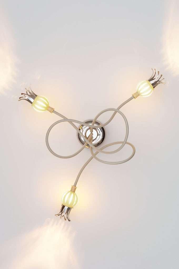 serien.lighting Poppy Wandleuchte mit 3 Armen beige keramikfarben 3 Arme PO1040