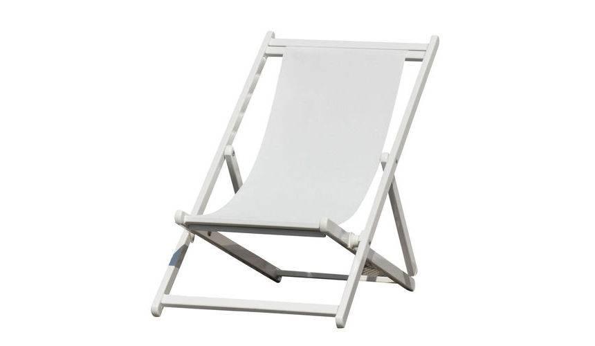 Jan Kurtz Rimini Deckchair Liegestuhl weiß weiß 492893