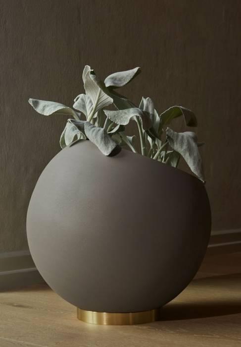 37cm Aytm Blumentopf Globe Schwarz