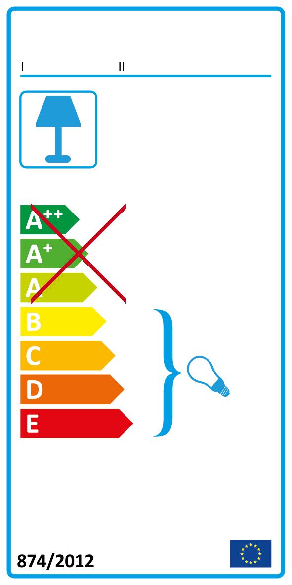 Die Leuchte ist geeignet für Leuchtmittel der Energieklassen: