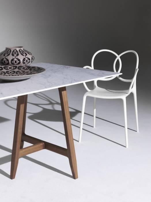Driade Sissi Stuhl mit Armlehne puder