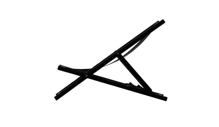 Jan Kurtz Rimini Deckchair Liegestuhl schwarz schwarz 492895