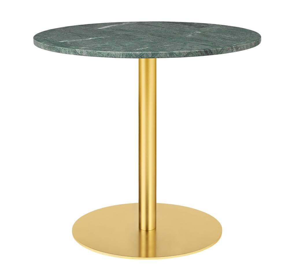Gubi Table 1.0 Esstisch rund Ø 80cm Marmor grün messing 10012442