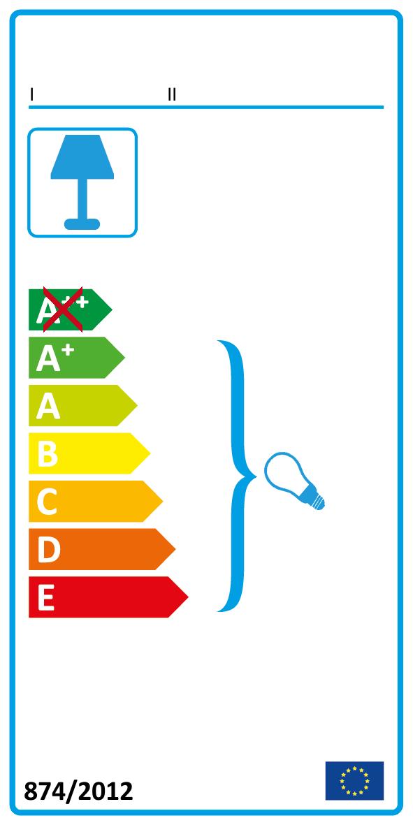 A+ bis E (Diese Leuchte ist geeignet für Leuchtmittel der Energieklassen A+ bis E)