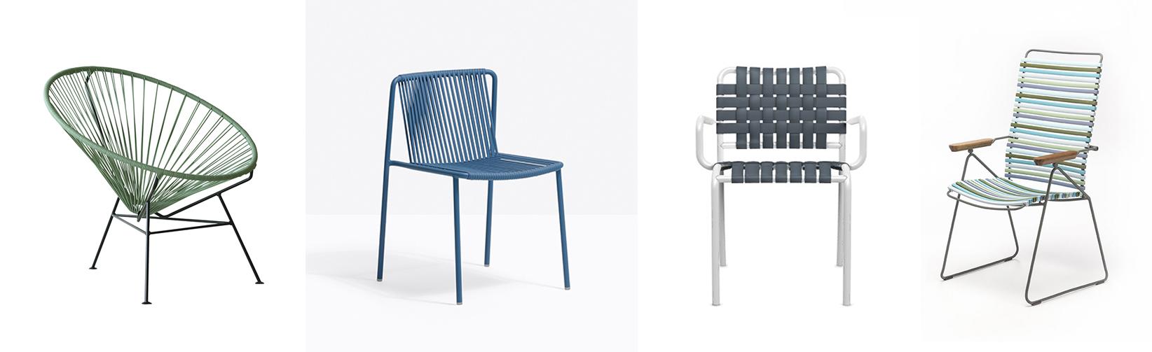 OK Design Condesa Chair Loungesessel, Pedrali 3660 Stuhl, Gervasoni InOut 824C Armlehnstuhl und Houe Click Hochlehner