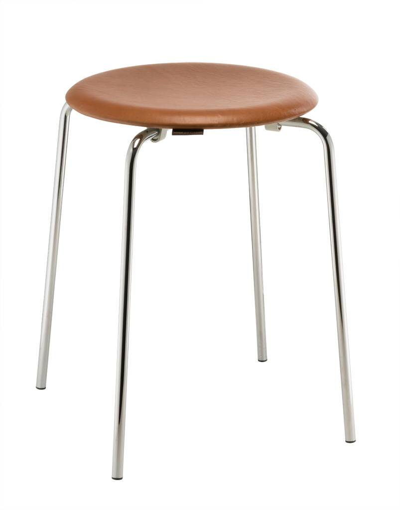 Fritz Hansen Dot Hocker Leder walnuss 840100