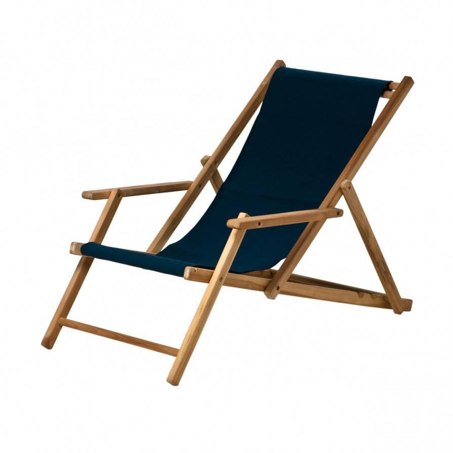Jan Kurtz Maxx Deckchair Liegestuhl Bezug Polyacryl blau 492159+442010
