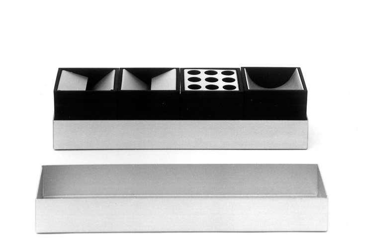Danese Milano Canarie Schreibtisch-Set schwarz 2 Stiftehalter, 2 Büroklammern-Halter DM2002D09