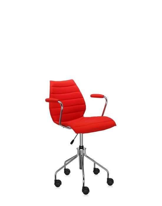 Kartell Maui Soft Bürostuhl mit Armlehnen rot 2897/GG
