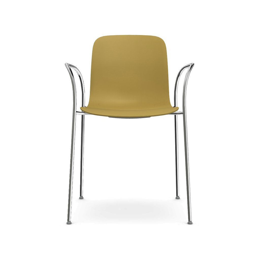 Magis Substance Stuhl schwarz lackiert senf