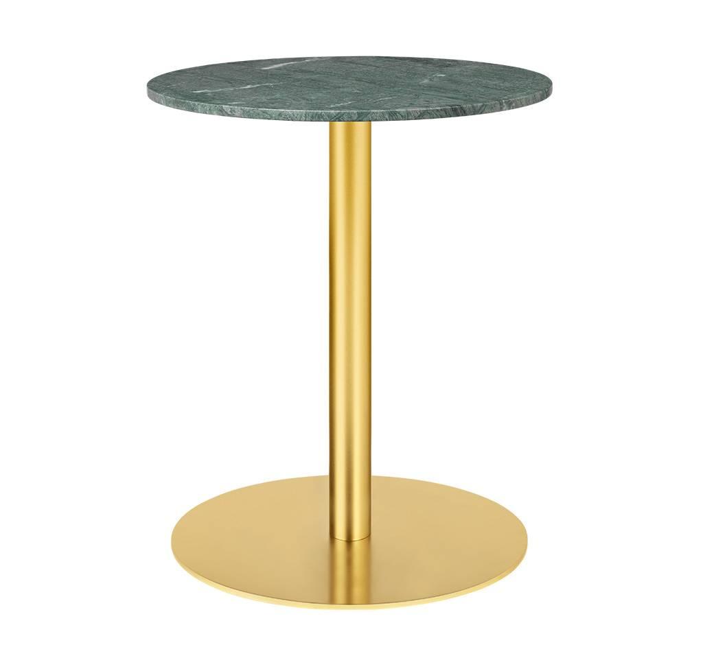 Gubi Table 1.0 Esstisch rund Ø 60cm Marmor grün messing 10012419