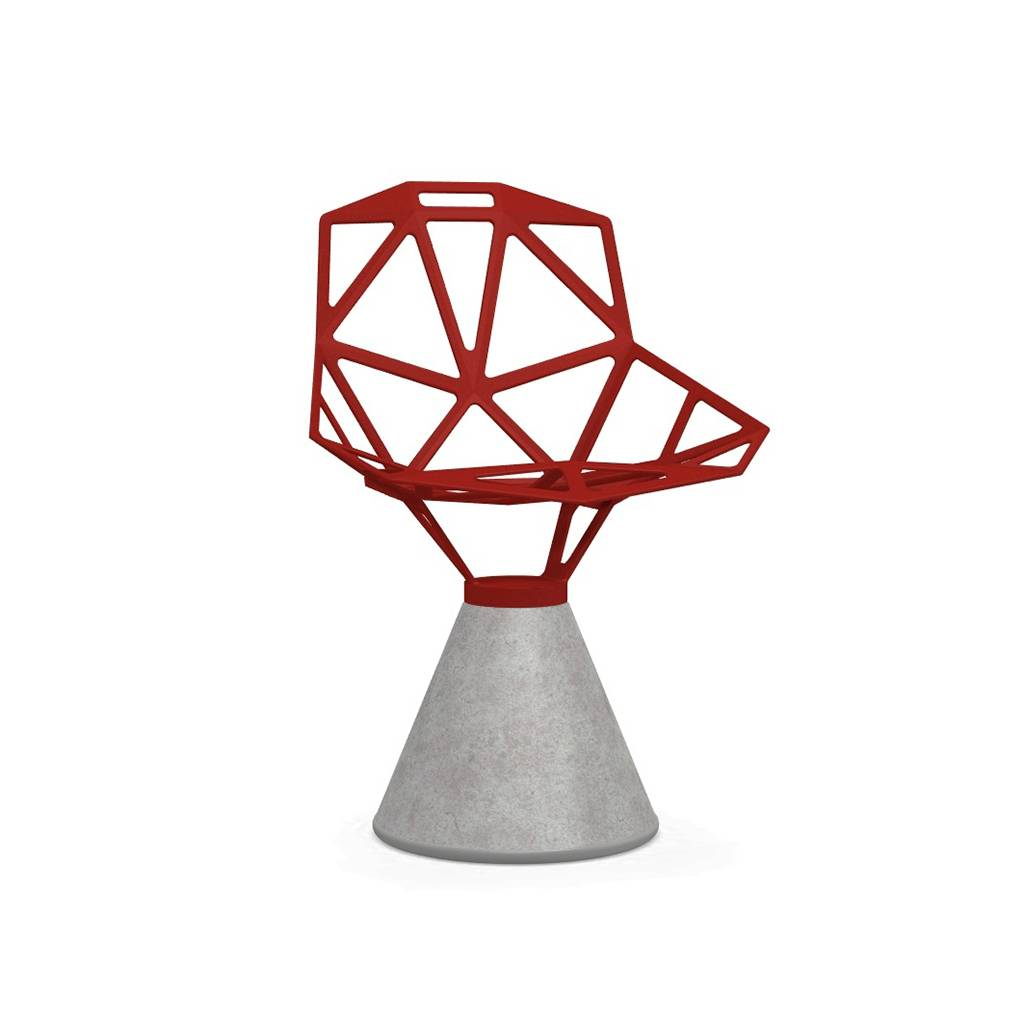 Magis Chair One Stuhl Beton fix grau rot SD450/5085