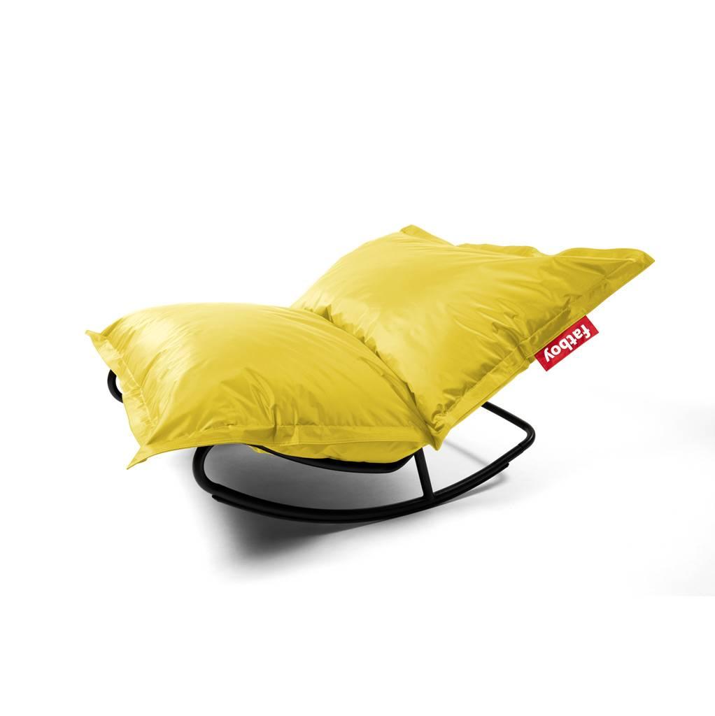Fatboy Rock 'n Roll Schaukelstuhl und Original Sitzsack Rock 'n Roll Schaukelstuhl + Original Nylon Sitzsack gelb 103161+102437