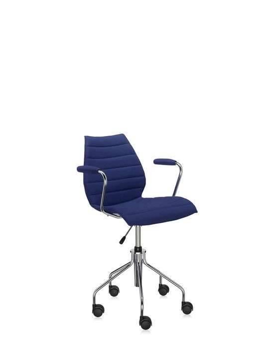 Kartell Maui Soft Bürostuhl mit Armlehnen blau 2897/PP