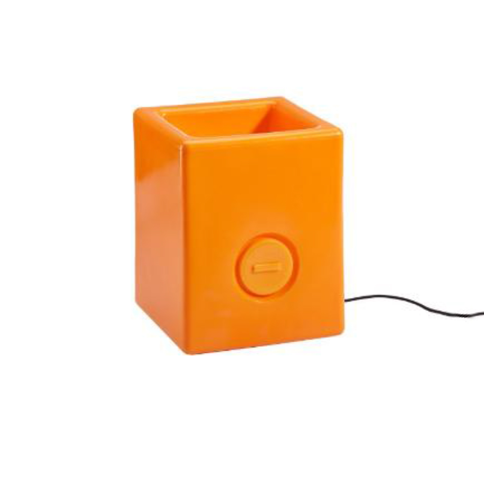 Bloom! Square Pot Blumentopf mit Licht H 50cm orange 862