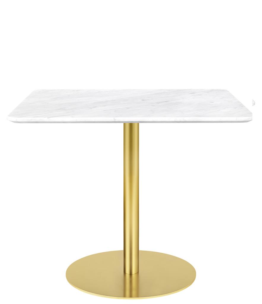 Gubi Table 1.0 Esstisch eckig 80 x 80cm Glas rot messing 10012473