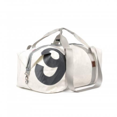360° Taschen 360° Kutter XL Segeltuchtasche weiß / Zahl grau 1802
